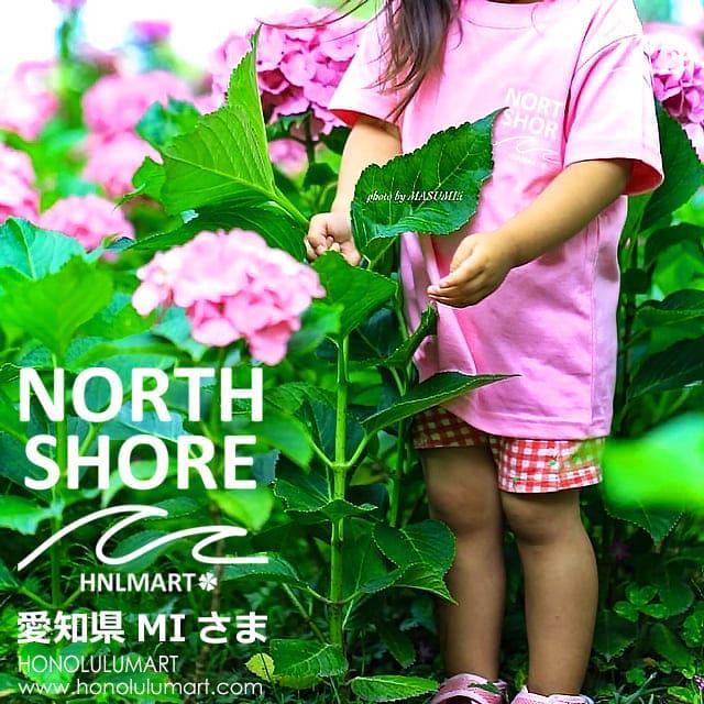 ノースショア波柄Tシャツ(ピンク・キッズサイズ)2