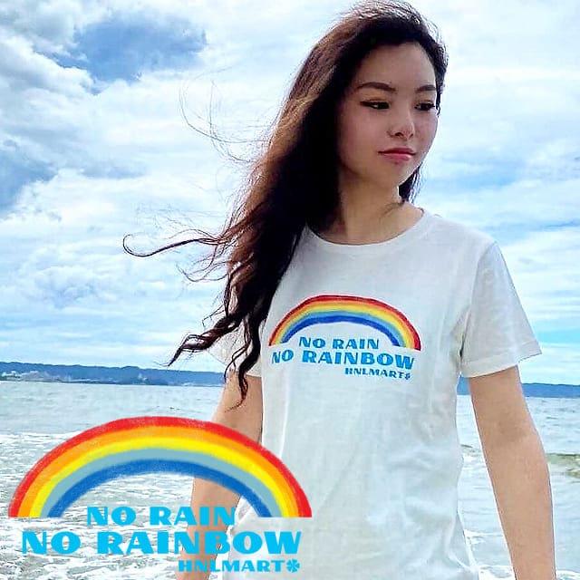 虹の半袖ハワイアンTシャツ