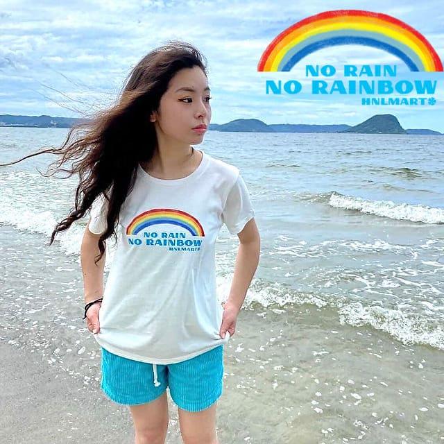虹の半袖ハワイアンTシャツ4